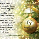 Barefoot Medicine Advent Calendar Door 2