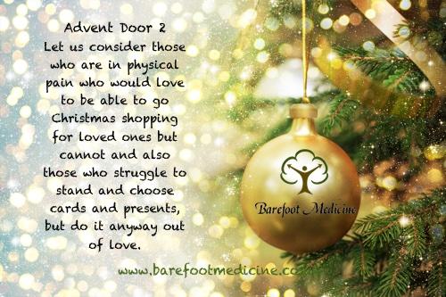 Barefoot Medicine Advent Calendar Door 2